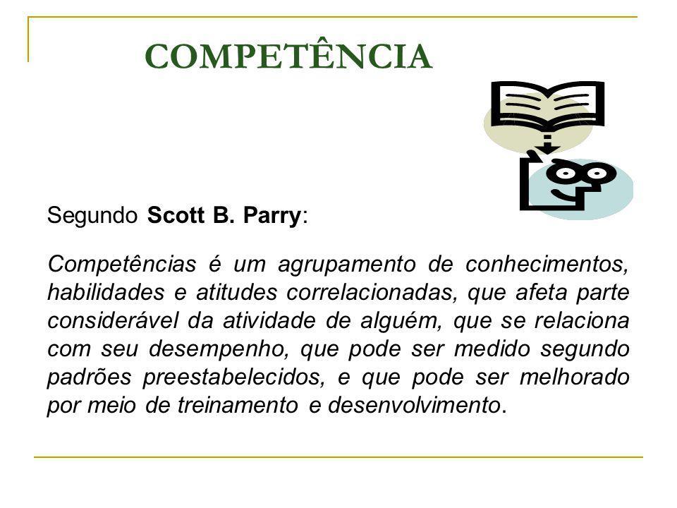 COMPETÊNCIA Segundo Scott B. Parry: