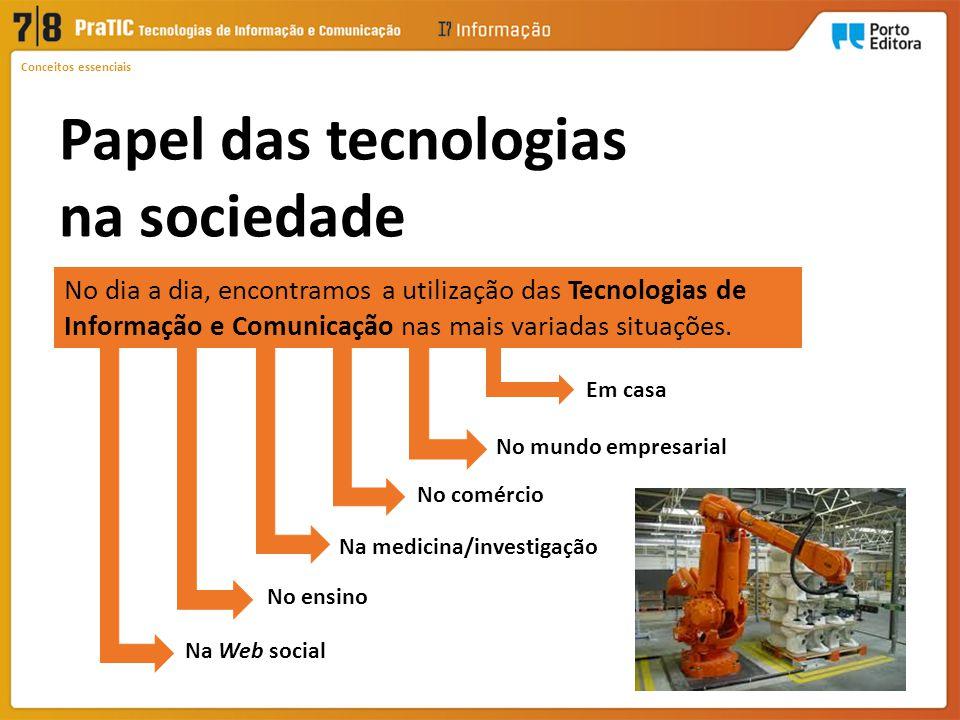 Papel das tecnologias na sociedade