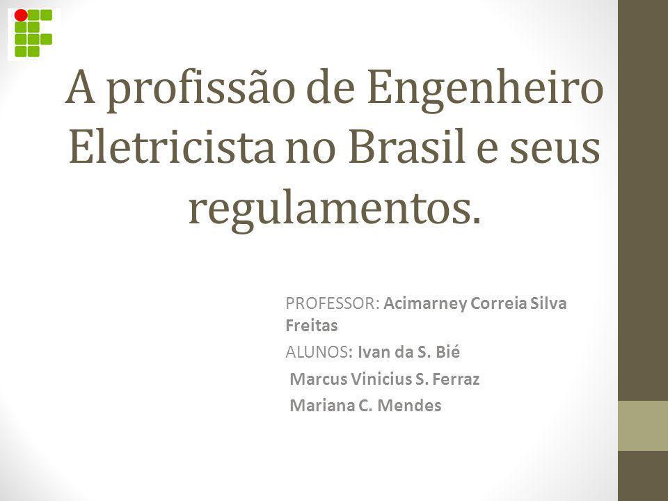 A profissão de Engenheiro Eletricista no Brasil e seus regulamentos.