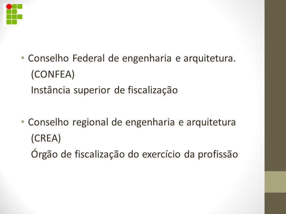 Conselho Federal de engenharia e arquitetura.