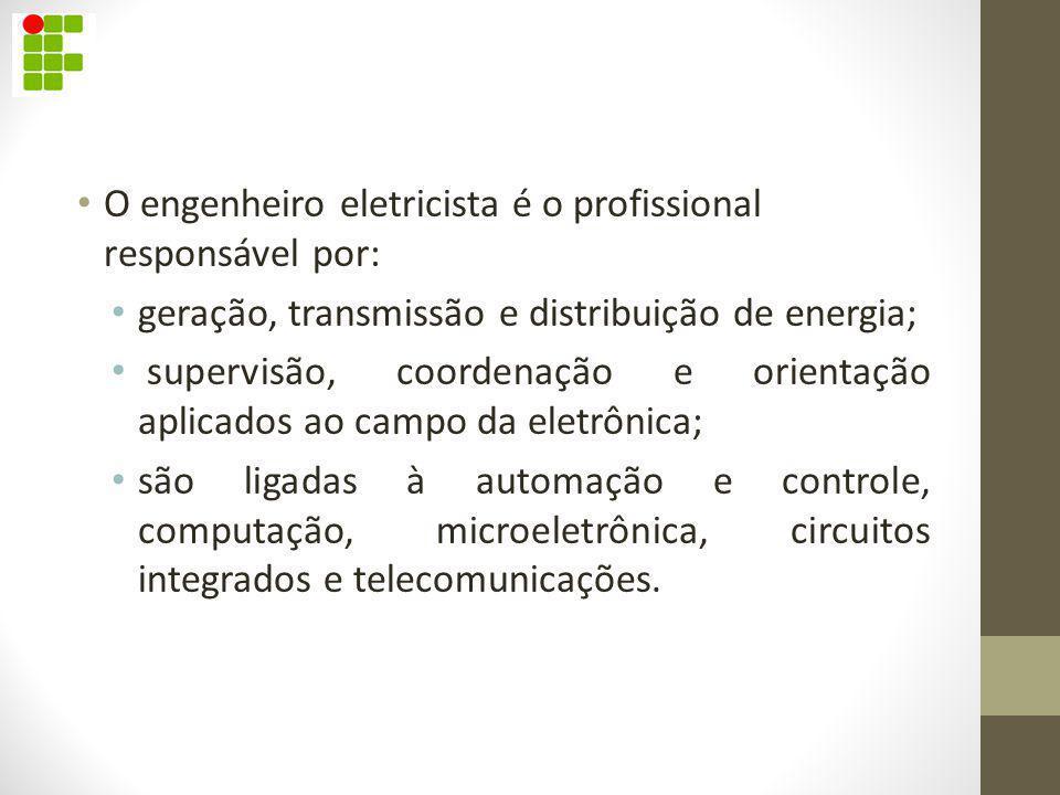 O engenheiro eletricista é o profissional responsável por: