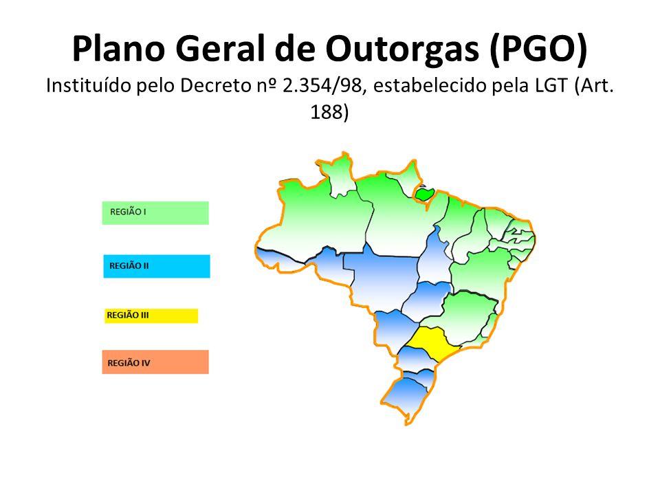 Plano Geral de Outorgas (PGO) Instituído pelo Decreto nº 2