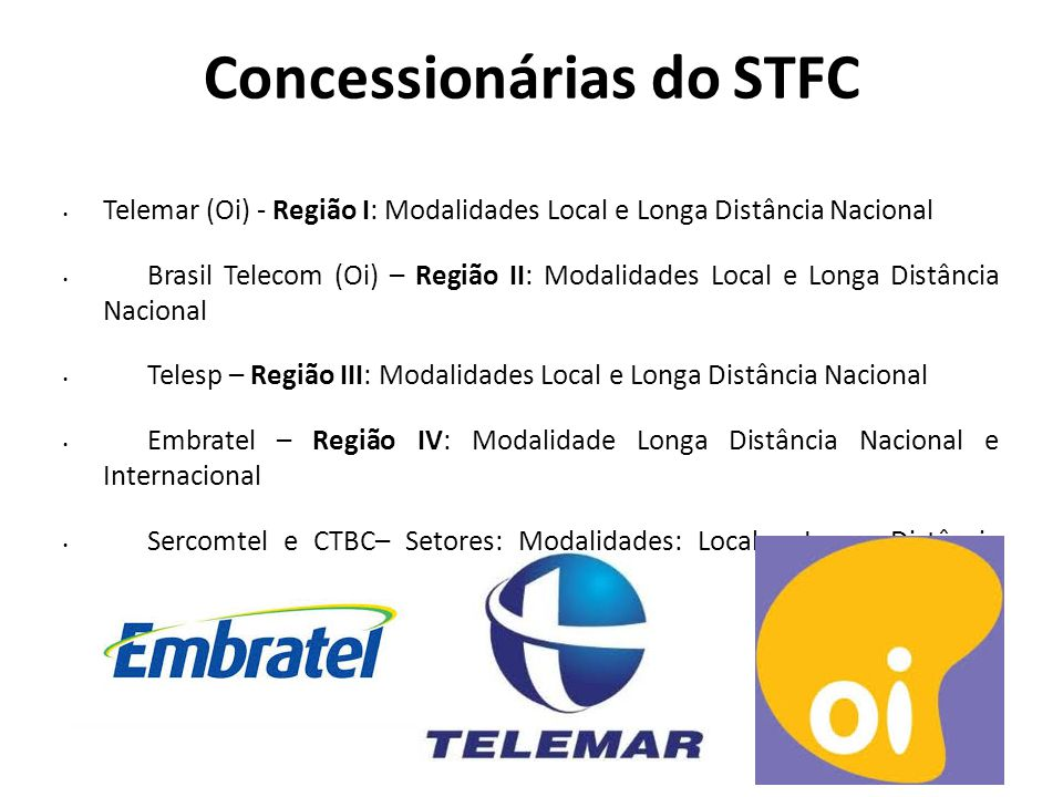 Concessionárias do STFC