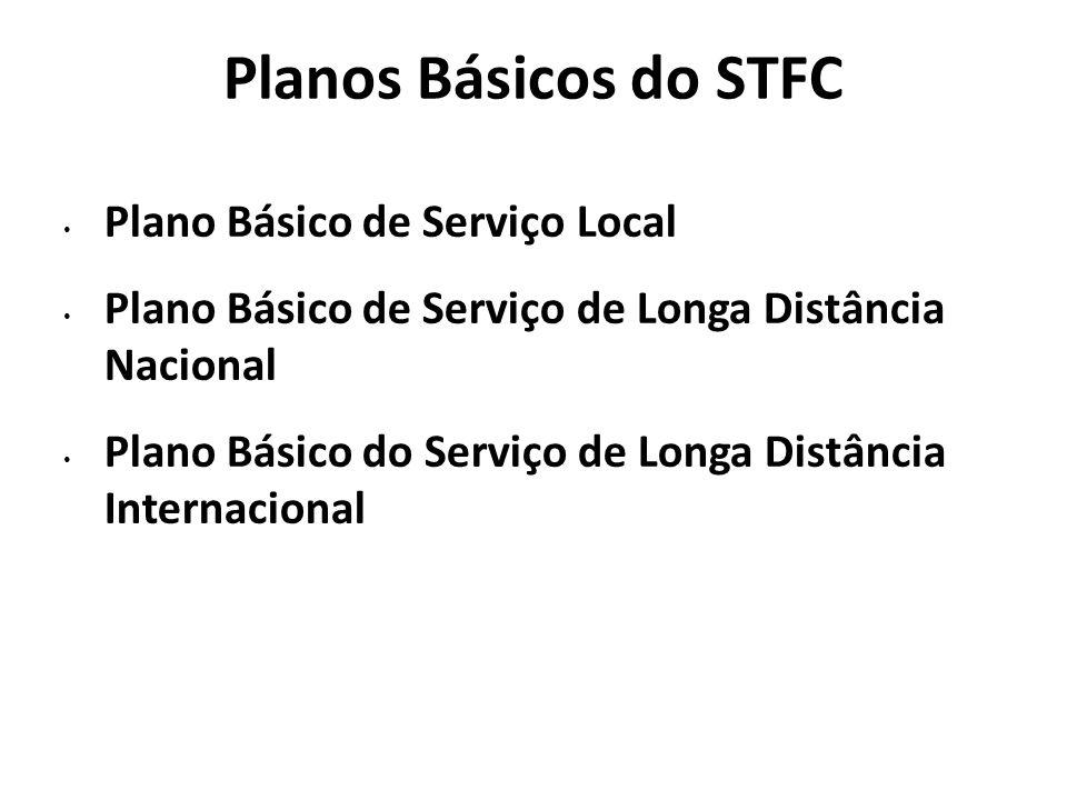 Planos Básicos do STFC Plano Básico de Serviço Local