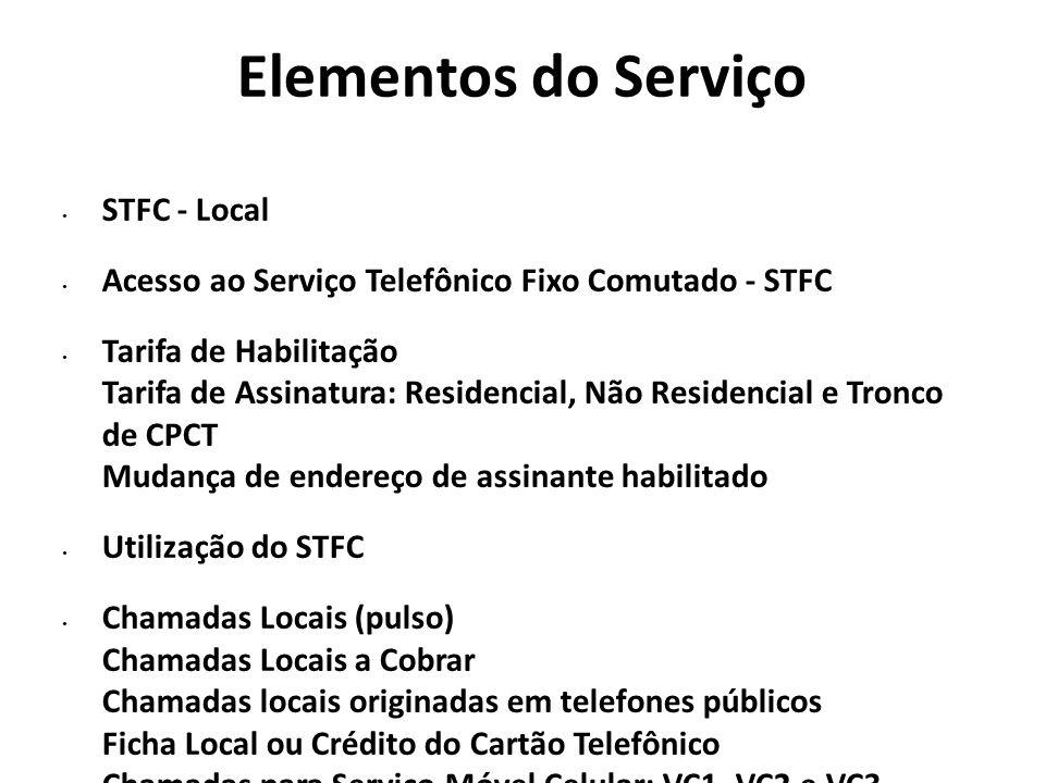 Elementos do Serviço STFC - Local