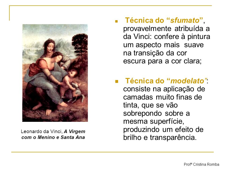 Leonardo da Vinci, A Virgem com o Menino e Santa Ana