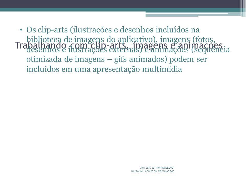 Trabalhando com clip-arts, imagens e animações