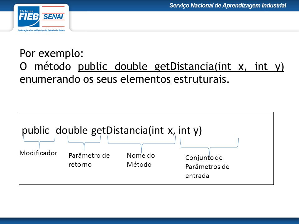 public double getDistancia(int x, int y)