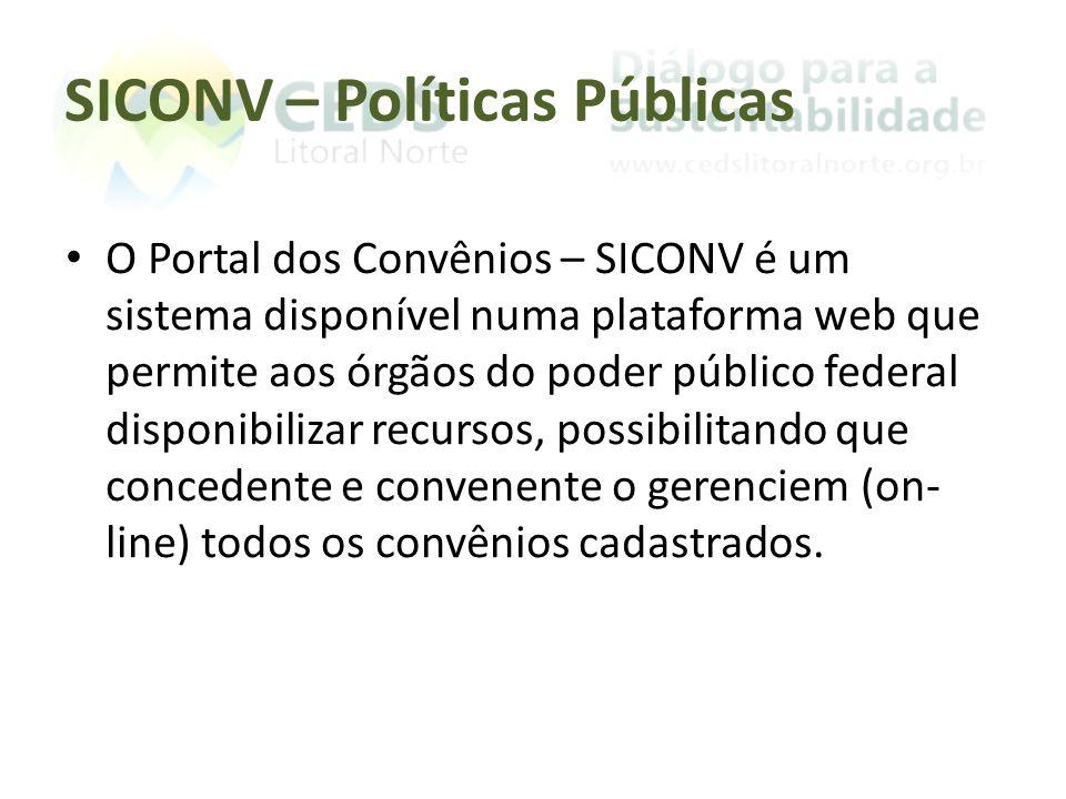 SICONV – Políticas Públicas