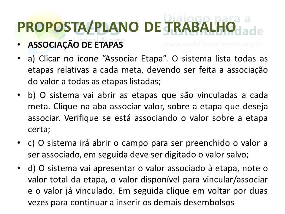 PROPOSTA/PLANO DE TRABALHO