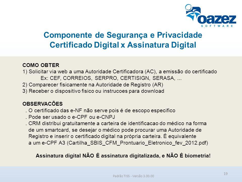 Assinatura digital NÃO É assinatura digitalizada, e NÃO É biometria!