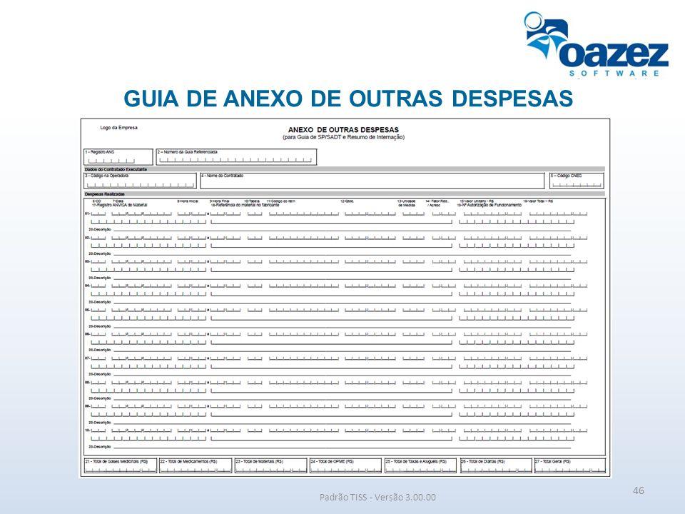GUIA DE ANEXO DE OUTRAS DESPESAS