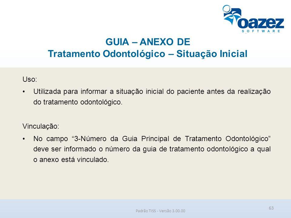 GUIA – ANEXO DE Tratamento Odontológico – Situação Inicial