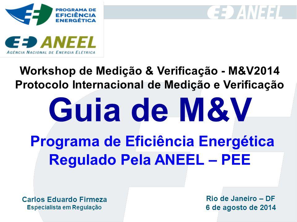Workshop de Medição & Verificação - M&V2014 Protocolo Internacional de Medição e Verificação