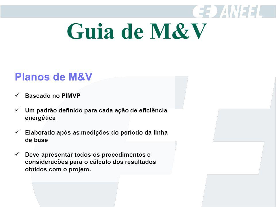 Guia de M&V Planos de M&V Baseado no PIMVP