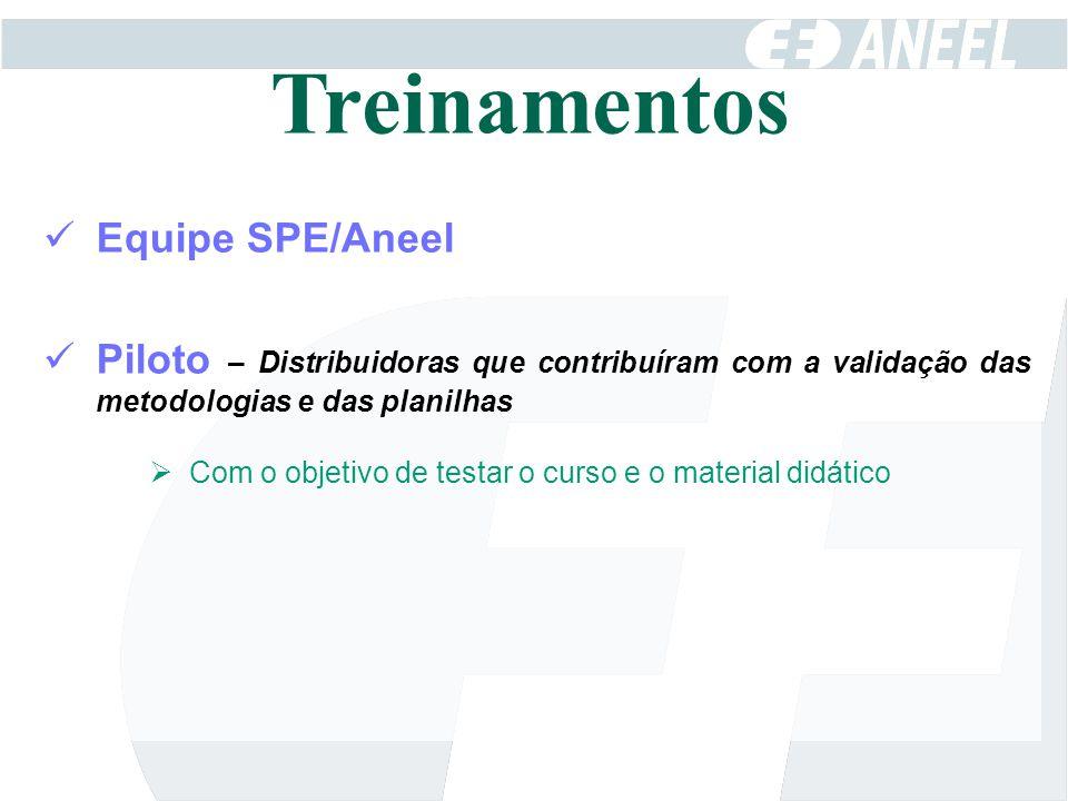 Treinamentos Equipe SPE/Aneel