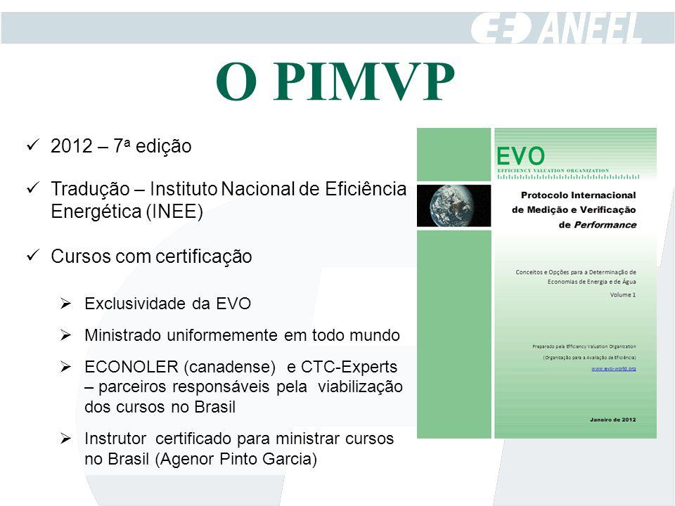 O PIMVP 2012 – 7a edição. Tradução – Instituto Nacional de Eficiência Energética (INEE) Cursos com certificação.