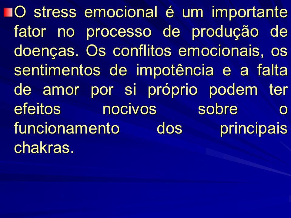 O stress emocional é um importante fator no processo de produção de doenças.