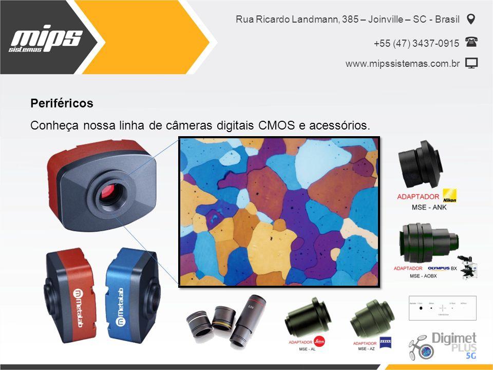Conheça nossa linha de câmeras digitais CMOS e acessórios.