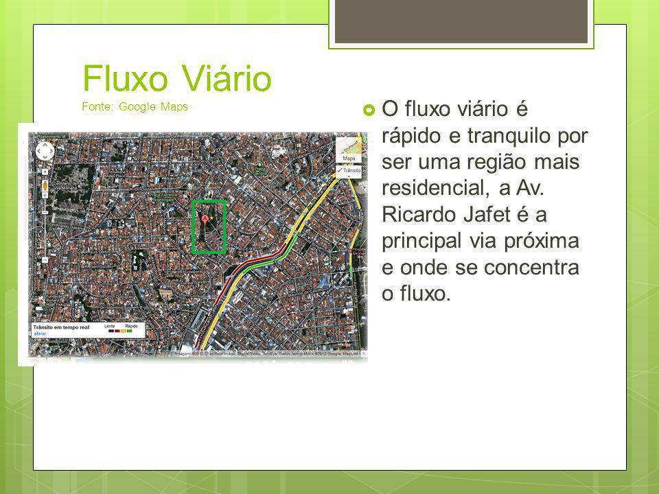 Fluxo Viário Fonte: Google Maps