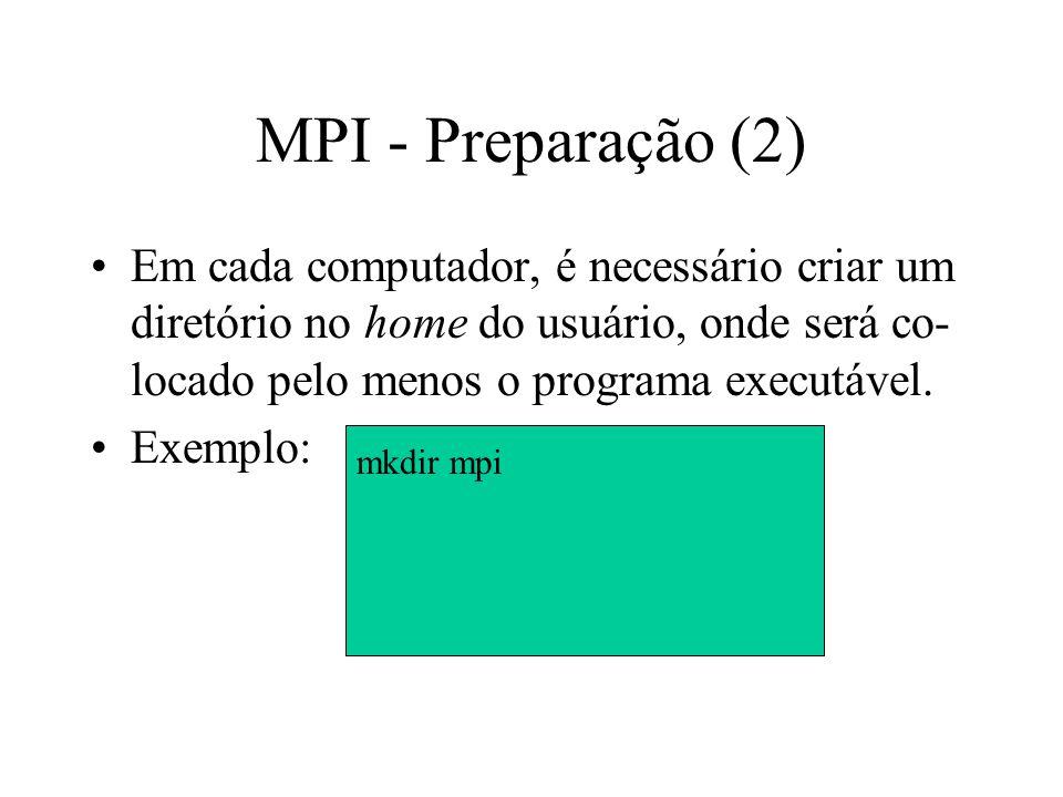 MPI - Preparação (2)