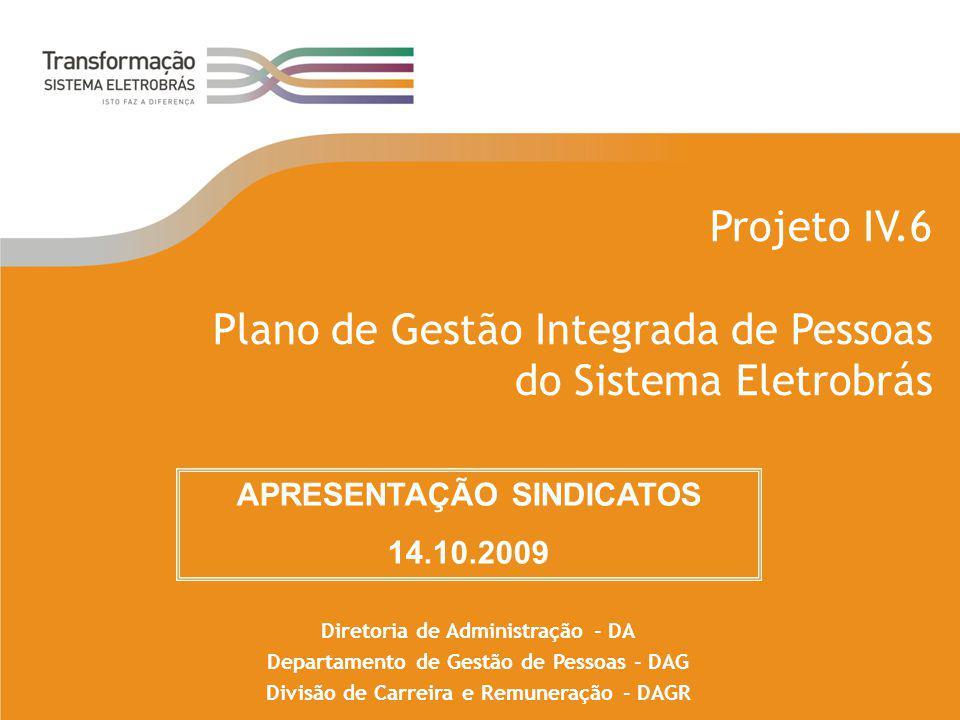 Projeto IV.6 Plano de Gestão Integrada de Pessoas do Sistema Eletrobrás