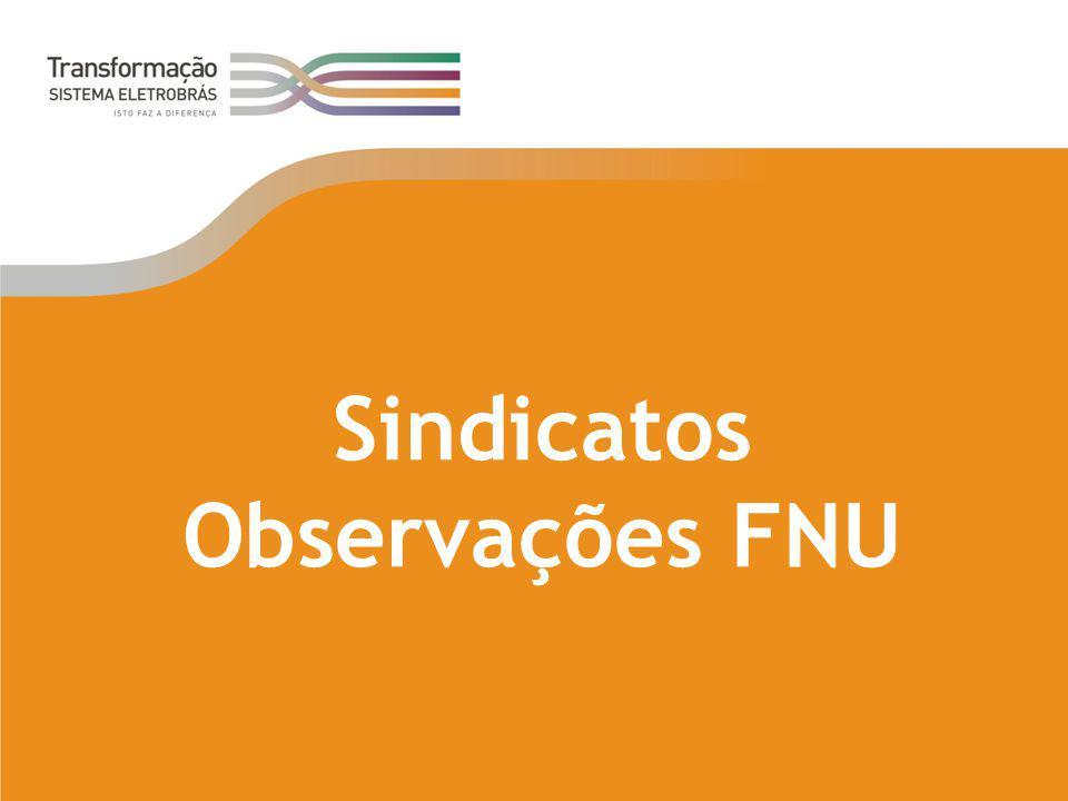 Sindicatos Observações FNU