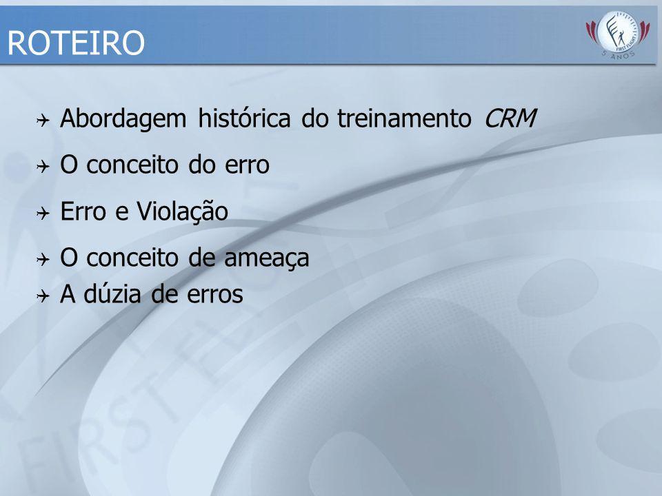 ROTEIRO Abordagem histórica do treinamento CRM O conceito do erro
