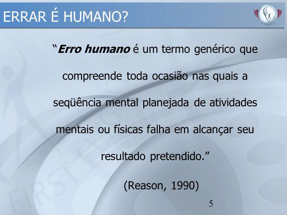 ERRAR É HUMANO Conceitos de Erro.