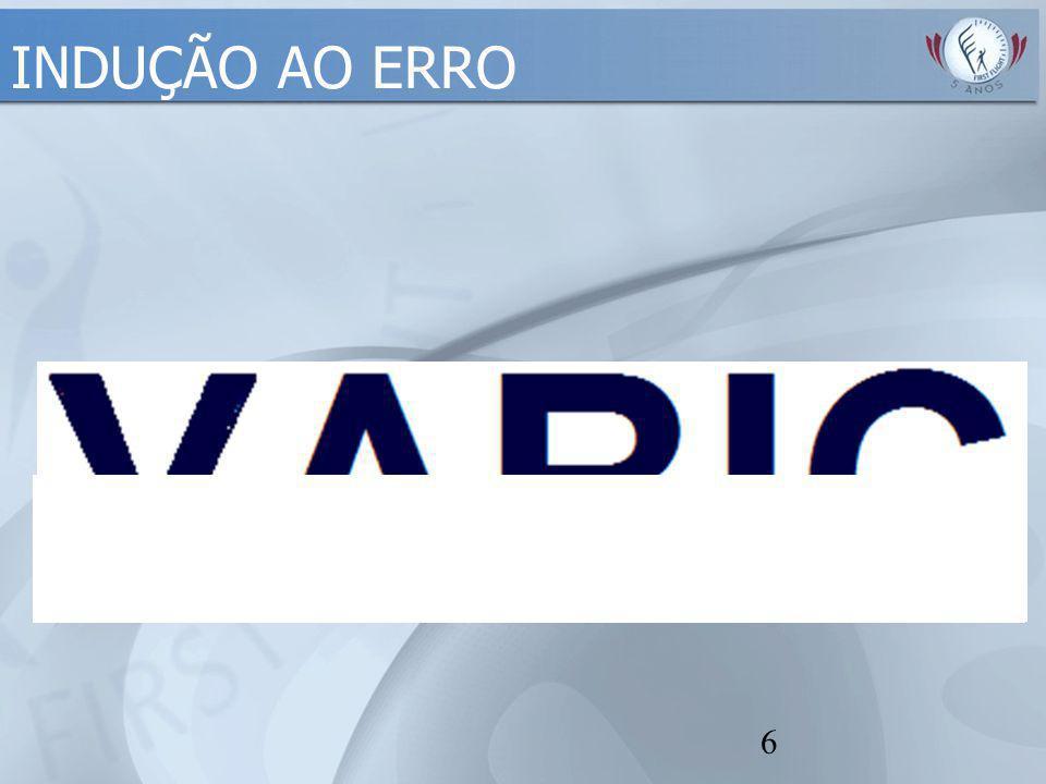 INDUÇÃO AO ERRO Conceitos de Erro