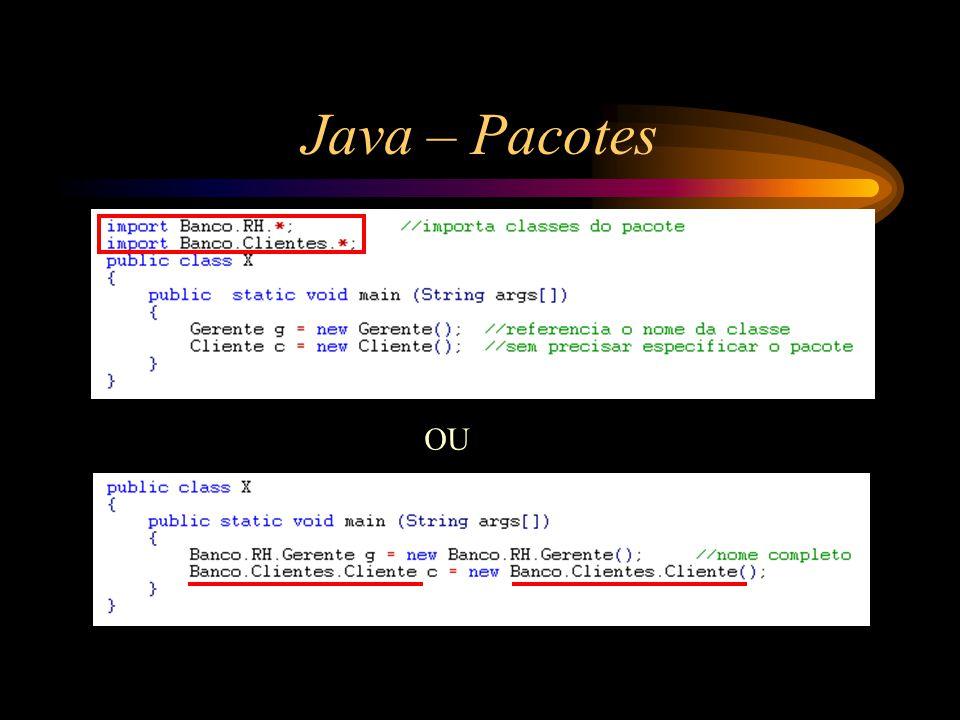 Java – Pacotes OU