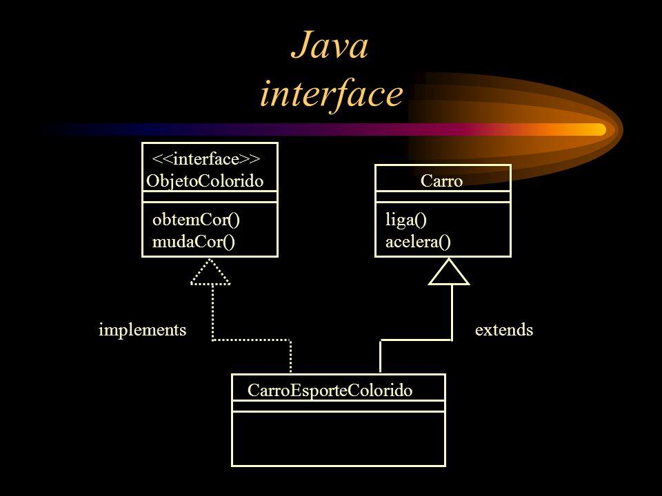Java interface <<interface>> ObjetoColorido Carro