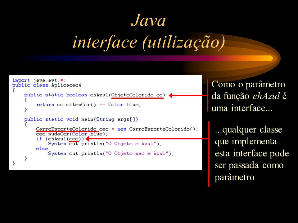 Java interface (utilização)