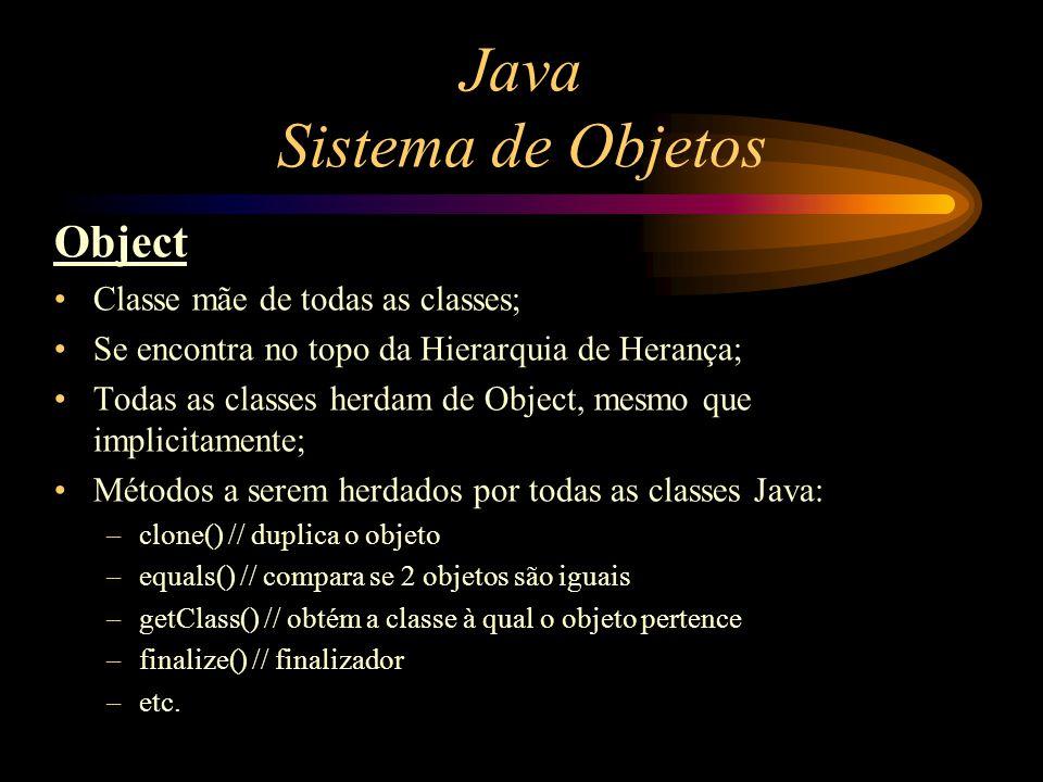 Java Sistema de Objetos