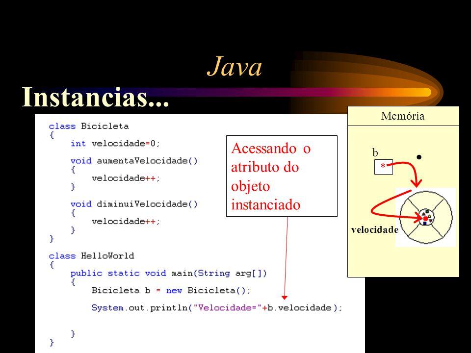 Java Instancias... . Acessando o atributo do objeto instanciado