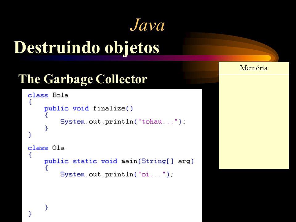Java Destruindo objetos Memória The Garbage Collector
