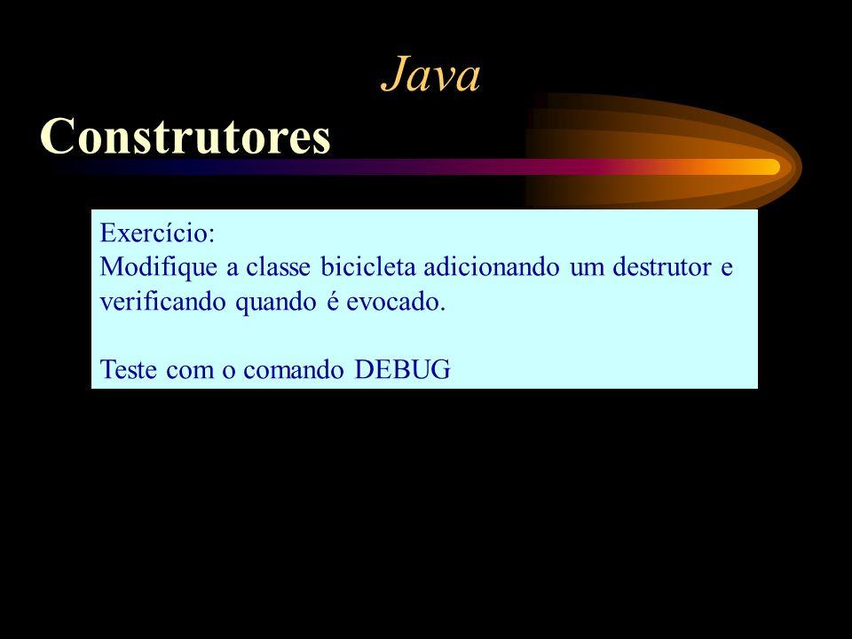 Java Construtores Exercício: