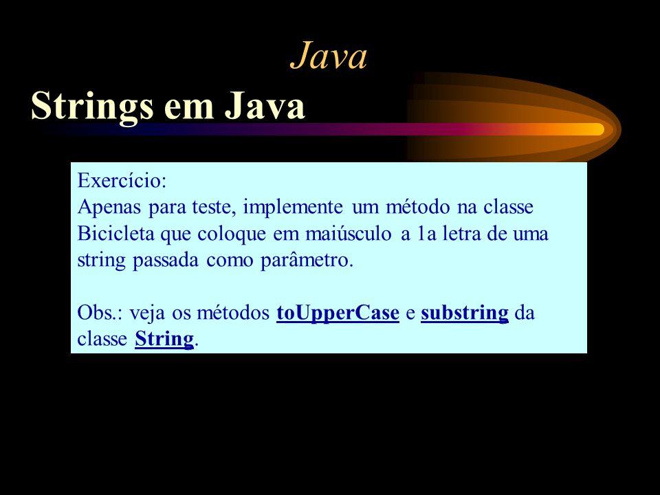 Java Strings em Java Exercício: