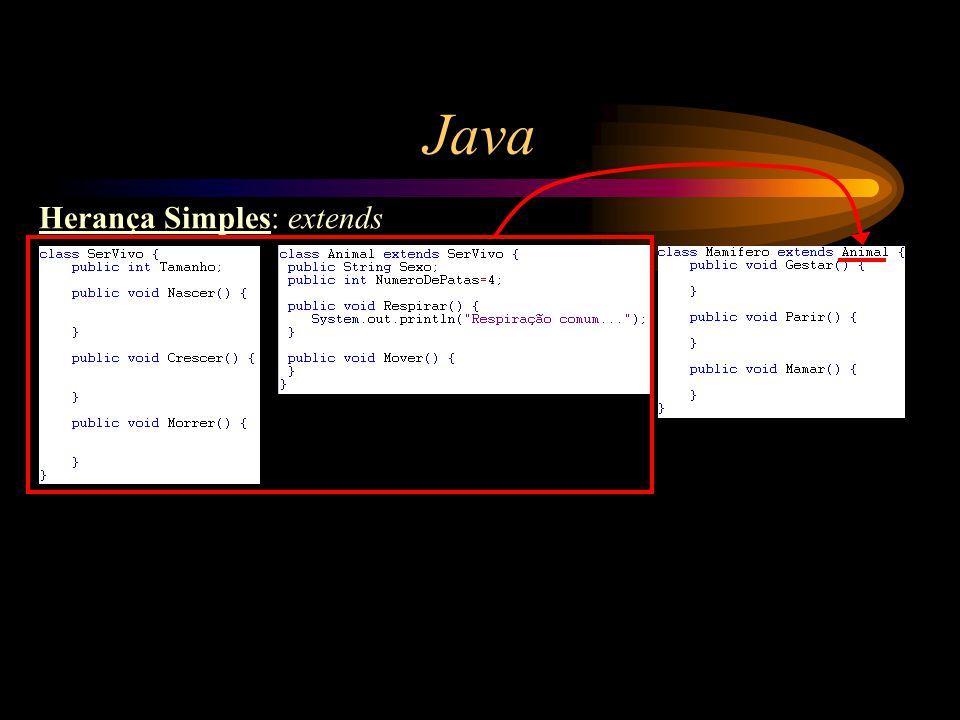 Java Herança Simples: extends