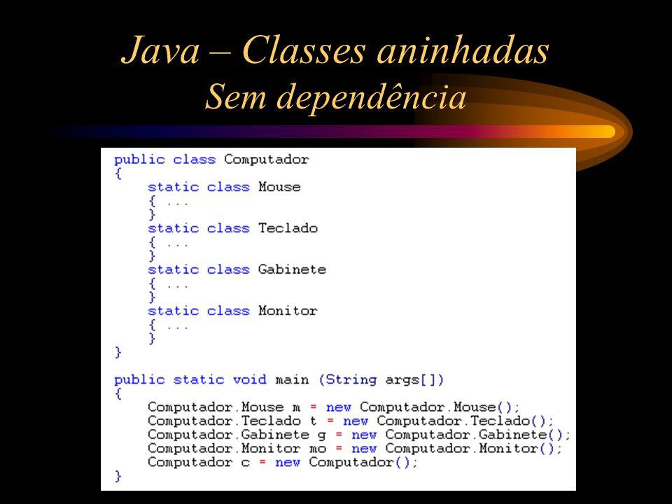 Java – Classes aninhadas Sem dependência
