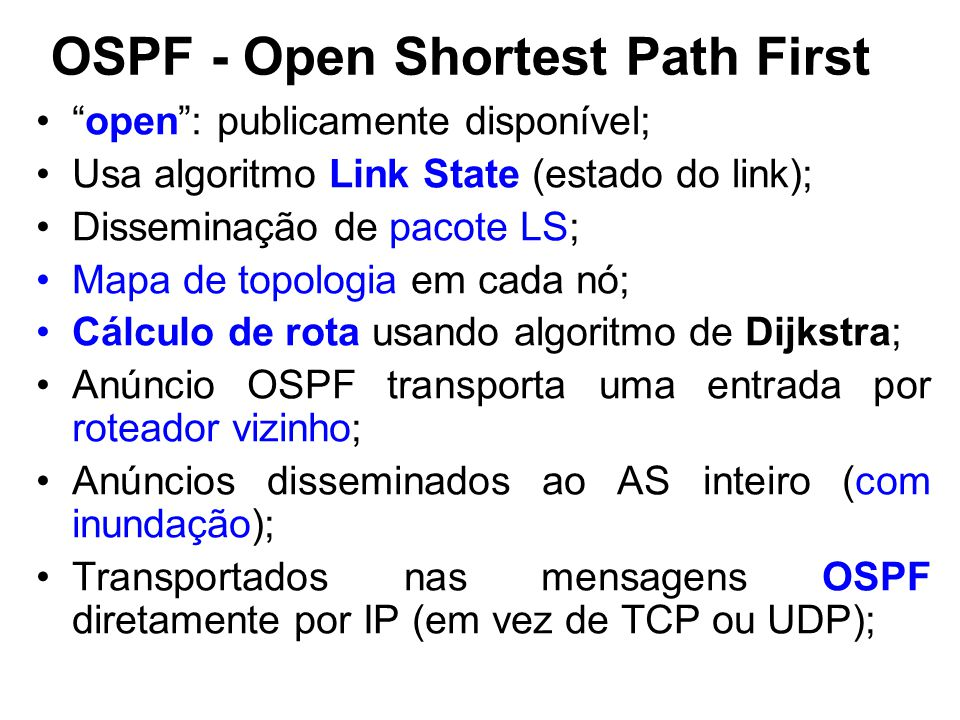OSPF - Open Shortest Path First