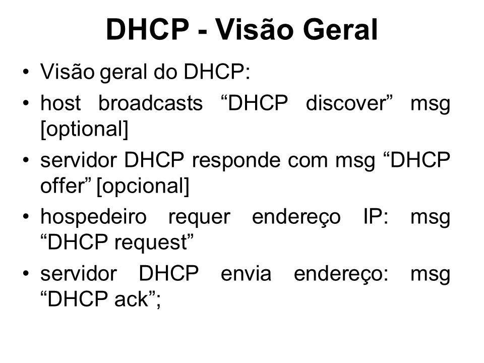 DHCP - Visão Geral Visão geral do DHCP:
