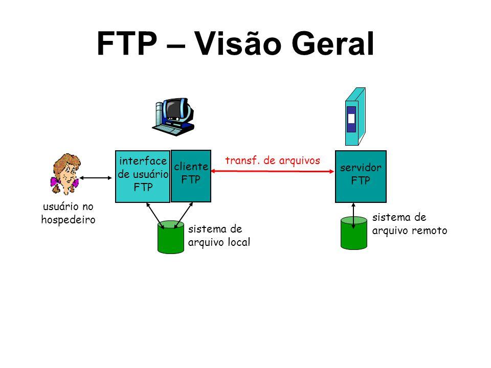 interface de usuário FTP