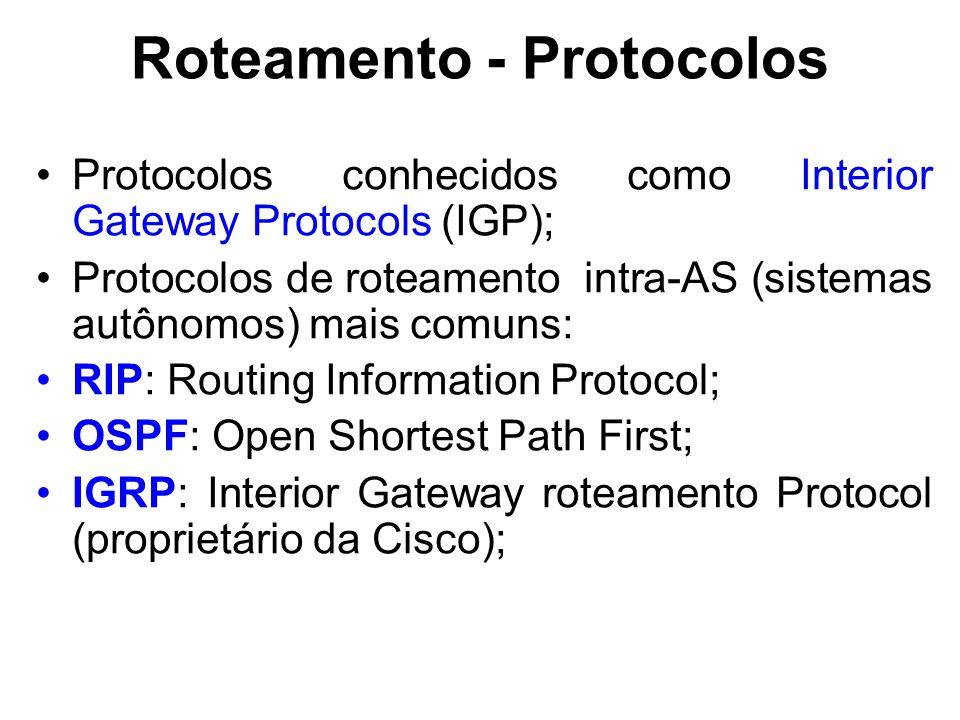 Roteamento - Protocolos