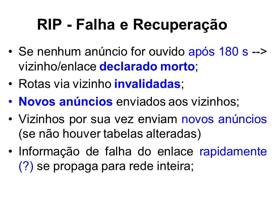 RIP - Falha e Recuperação
