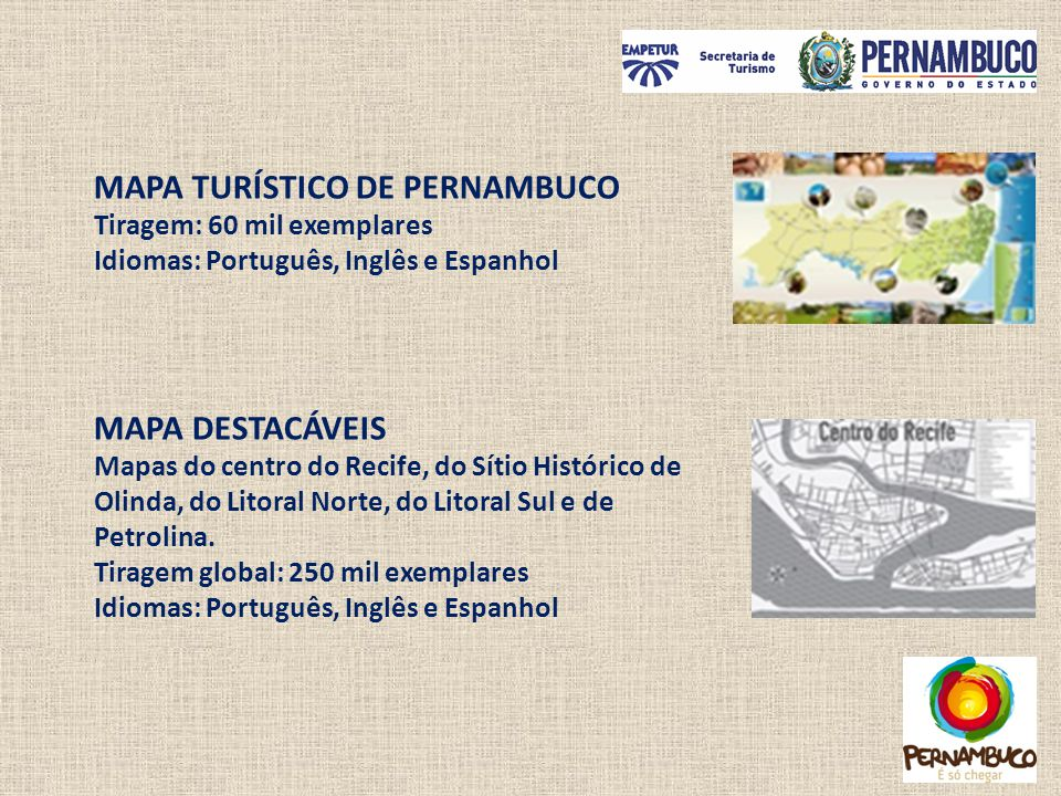 MAPA TURÍSTICO DE PERNAMBUCO