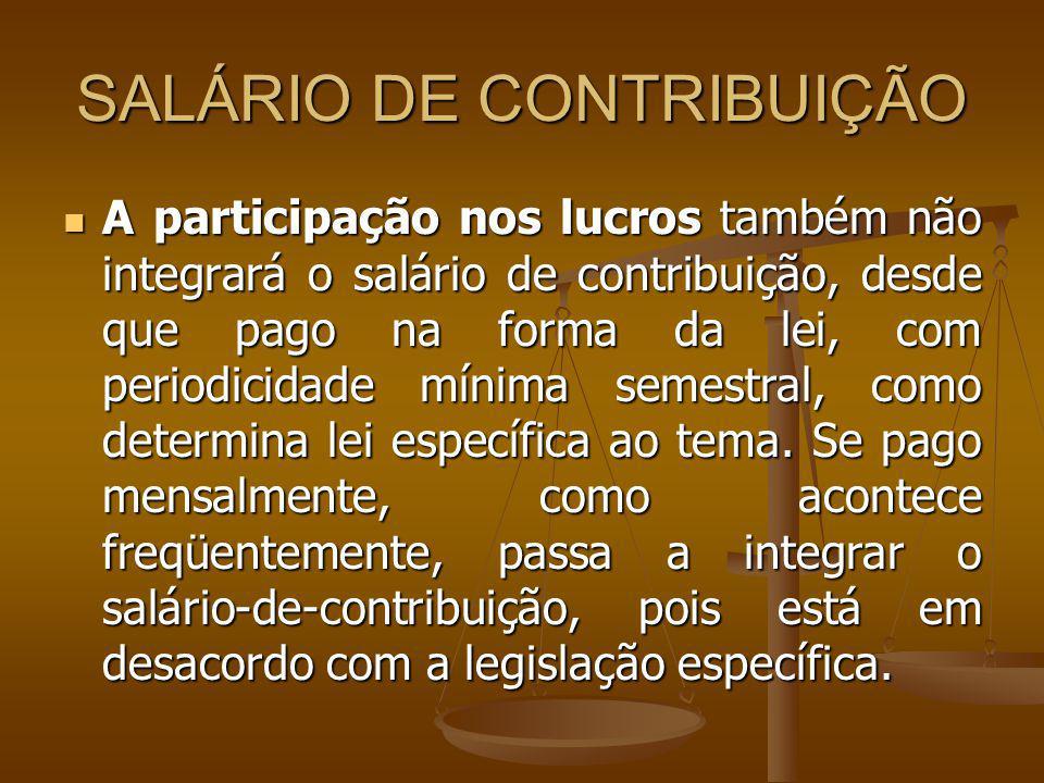 SALÁRIO DE CONTRIBUIÇÃO
