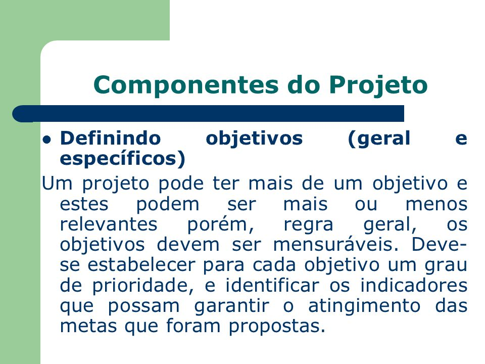 Componentes do Projeto