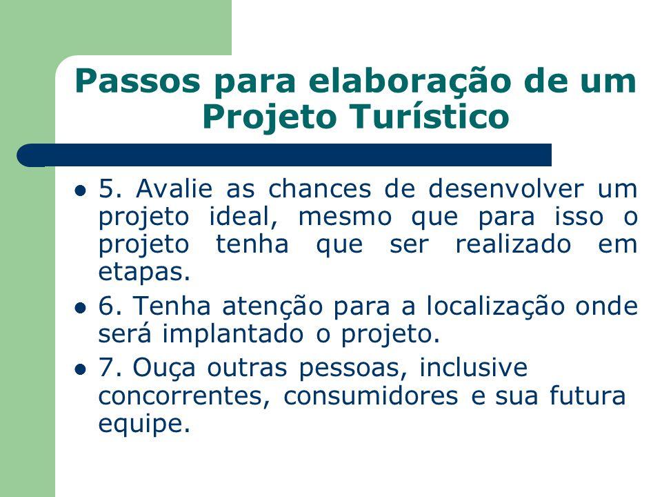 Passos para elaboração de um Projeto Turístico