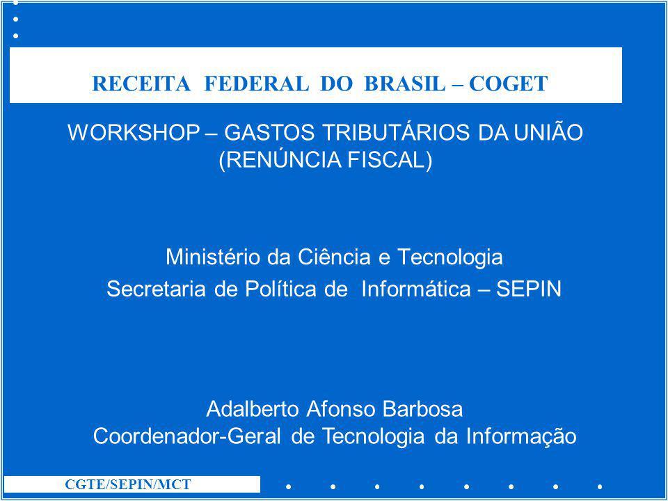 RECEITA FEDERAL DO BRASIL – COGET